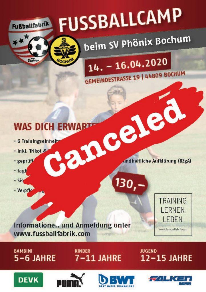 Absage Fußballcamp